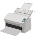 download Sheet Fed Scanner clipart image with 315 hue color