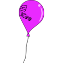download Free Balloon clipart image with 270 hue color