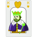 download King Of Hearts clipart image with 45 hue color
