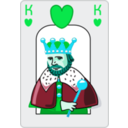 download King Of Hearts clipart image with 135 hue color