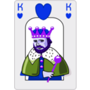 download King Of Hearts clipart image with 225 hue color