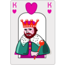 download King Of Hearts clipart image with 315 hue color