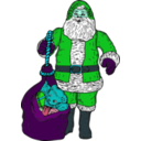 download Santa And Bag clipart image with 135 hue color