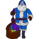 download Santa And Bag clipart image with 225 hue color