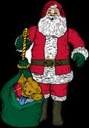 Santa And Bag