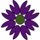 download The Purple Flower clipart image with 315 hue color