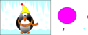 Pinguin In The Winter