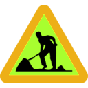 download Workman Ahead Roadsign clipart image with 45 hue color