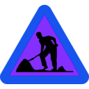 download Workman Ahead Roadsign clipart image with 225 hue color