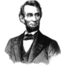 download Abraham Lincoln 1865 clipart image with 315 hue color