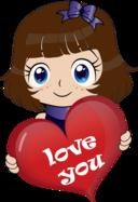 Cute Girl Manga Smiley Emoticon