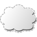 download Cloud clipart image with 0 hue color