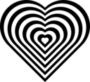 Geometric Zebra Heart