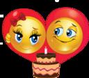 Birthday Couple Smiley Emoticon