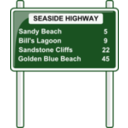Road Distances Sign