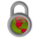 download Secure About The World clipart image with 225 hue color