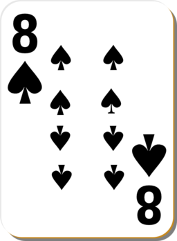 White Deck 8 Of Spades