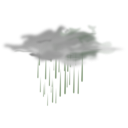 download Weather Icon Showers clipart image with 270 hue color