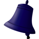 download Bell clipart image with 225 hue color