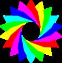 January 13 2013 6 Triangles Rainbow
