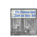 download Cite Sources Used Just As They Did clipart image with 225 hue color