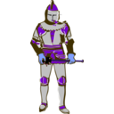 download Knight clipart image with 225 hue color