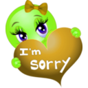 download Sorry Girl Smiley Emoticon clipart image with 45 hue color