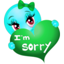 download Sorry Girl Smiley Emoticon clipart image with 135 hue color