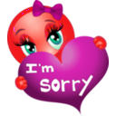 download Sorry Girl Smiley Emoticon clipart image with 315 hue color
