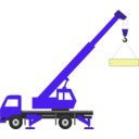 download Crane clipart image with 225 hue color