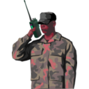 download Soldier With Walkie Talkie Radio Tall clipart image with 315 hue color