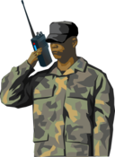 Soldier With Walkie Talkie Radio Tall