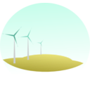 download Wind Mills clipart image with 315 hue color