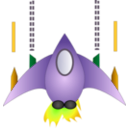 download Space Ship clipart image with 45 hue color