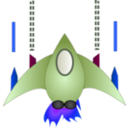 download Space Ship clipart image with 225 hue color