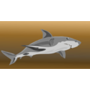 download Shark clipart image with 180 hue color