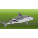 download Shark clipart image with 225 hue color