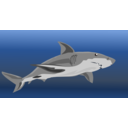 download Shark clipart image with 0 hue color