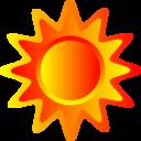 Red Orange And Yellow Sun