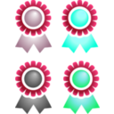 download Badges clipart image with 135 hue color