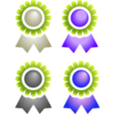 download Badges clipart image with 225 hue color