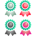 download Badges clipart image with 315 hue color