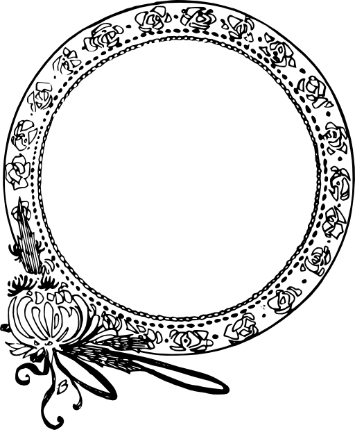 Circle flower frame clipart i2clipart royalty free for Image miroir photoshop