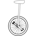 download Unicycle Line Art clipart image with 225 hue color