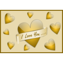 download I Love You Card clipart image with 45 hue color