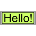 Digital Display With Hello Text