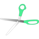 download Scissors Wide Open clipart image with 135 hue color