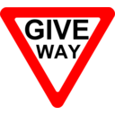 Roadsign Give Way