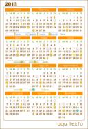 Calendario 2013 Calendar V 1