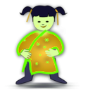 download Chinese Girl Icon clipart image with 45 hue color